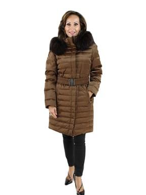 Fabric Coat w/ Finn Raccoon Hood