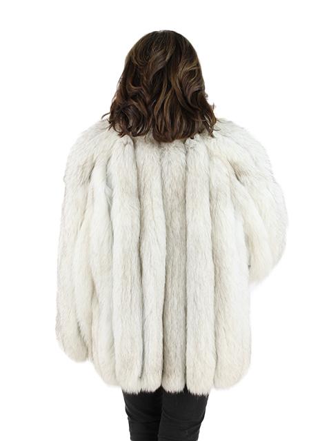 Woman's Natural Blue Fox Jacket