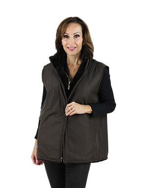 Sheared Mink Fur Reversible Vest