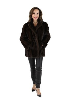 Mahogany Female Mink Fur Jacket