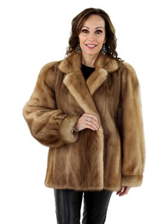 Woman's Autumn Haze Mink Fur Jacket