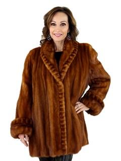 New Women's Whiskey Female Mink Fur Stroller