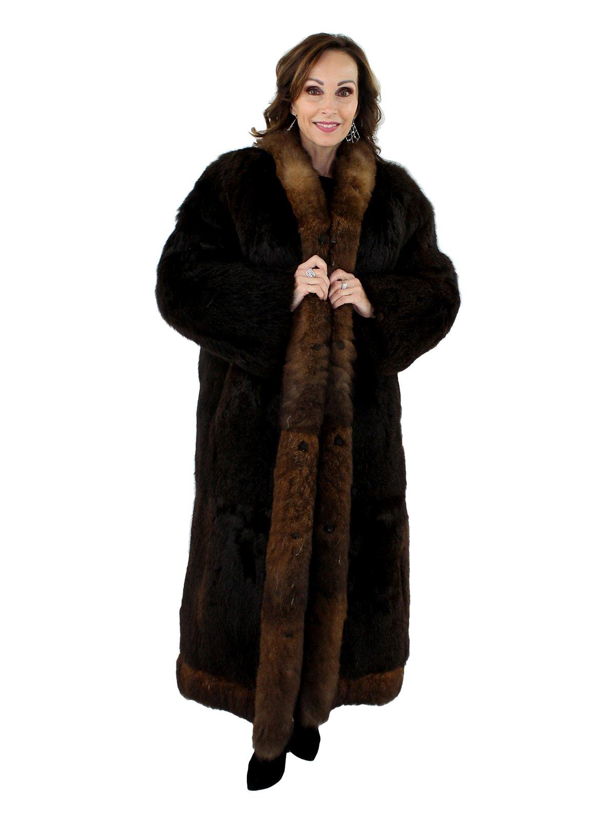 Woman's Natural Opossum Fur Coat