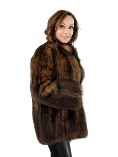 Woman's Natural Opossum Fur Jacket