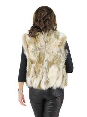 Coyote and Leather Reversible Vest