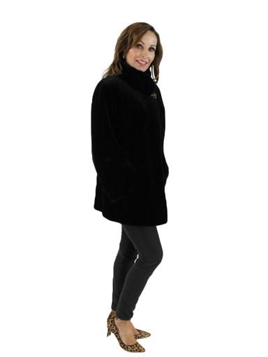 Black Sheared Mink Jacket