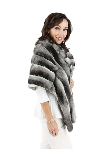 Natural Chinchilla Fur Stole