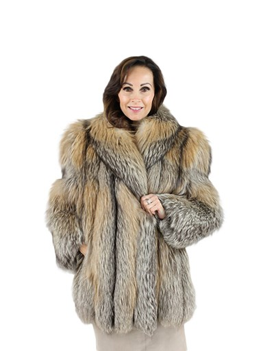 Woman's Cinnamon Fox Fur Jacket