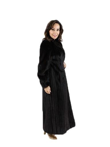 Woman's Mahogany Female Mink Fur Coat