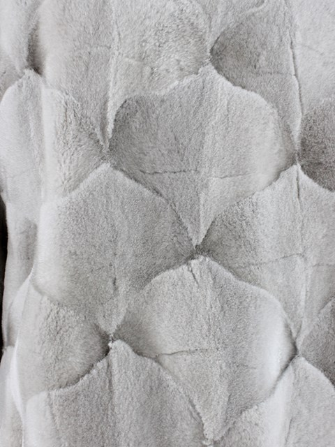 Cerulean Sheared Sculptured Mink Fur Stroller
