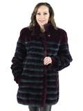 Woman's Multi Colored Sheared Beaver Fur Jacket