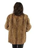 Woman's Pastel Mink Section Fur Jacket