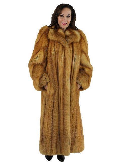 Woman's Red Fox Fur Coat