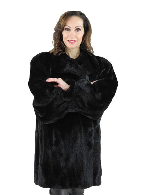 Woman's Plus Size Blackglama Mink Fur Stroller
