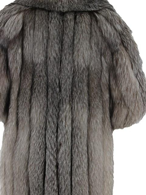 Woman's Indigo Fox Fur Coat