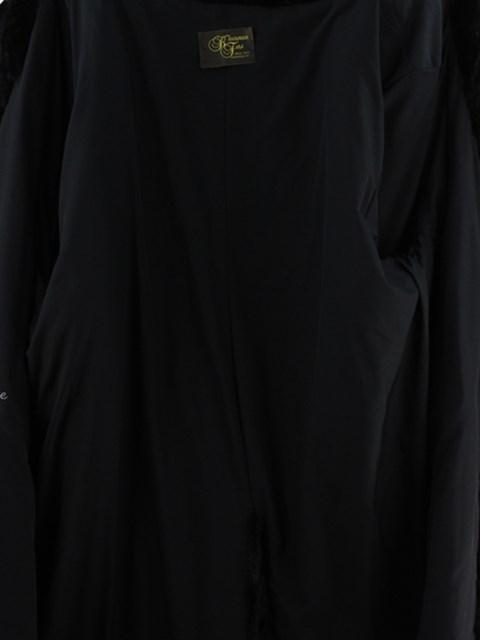 Woman's Plus Size Sculptured Mink Fur Coat