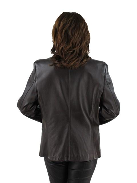 Woman's Brown Lambskin Leather Jacket