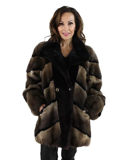 Woman's Reversible Muskrat Fur Jacket
