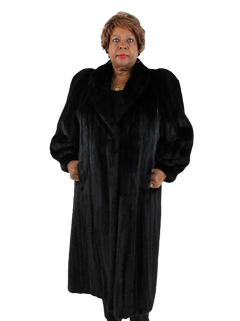 Woman's Plus Size Ranch Mink Fur Coat