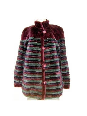Multi Color Sheared Beaver Fur Jacket