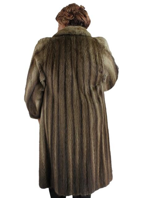 Woman's Natural Muskrat Fur Coat