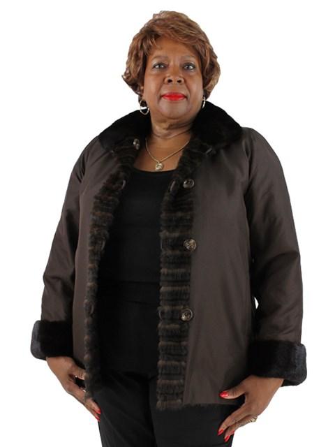 Woman's Horizontal Mink Fur Jacket