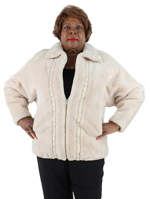 Woman's Musi Cashmere and Sheared Beaver Fur Jacket