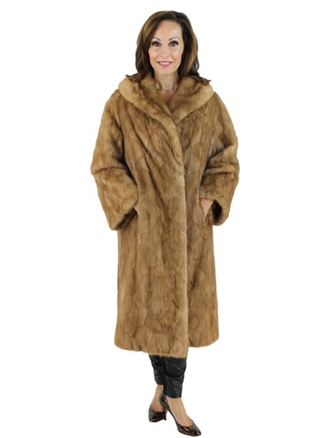Woman's Autumn Haze Mink Section Fur Stroller