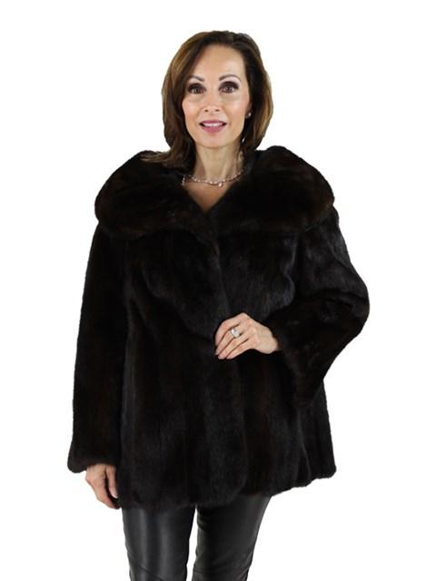 Woman's Ranch Mink Fur Evening Jacket
