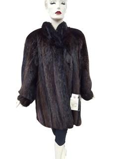 NEW Long Hair Beaver Jacket