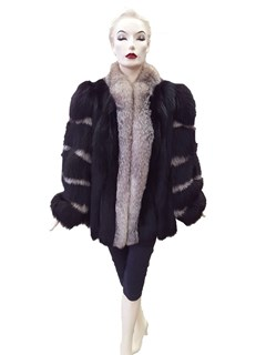 Black and Silver Fox Jacket