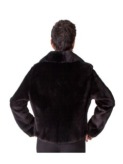 NEW Sheared Beaver Motorcycle Biker Jacket