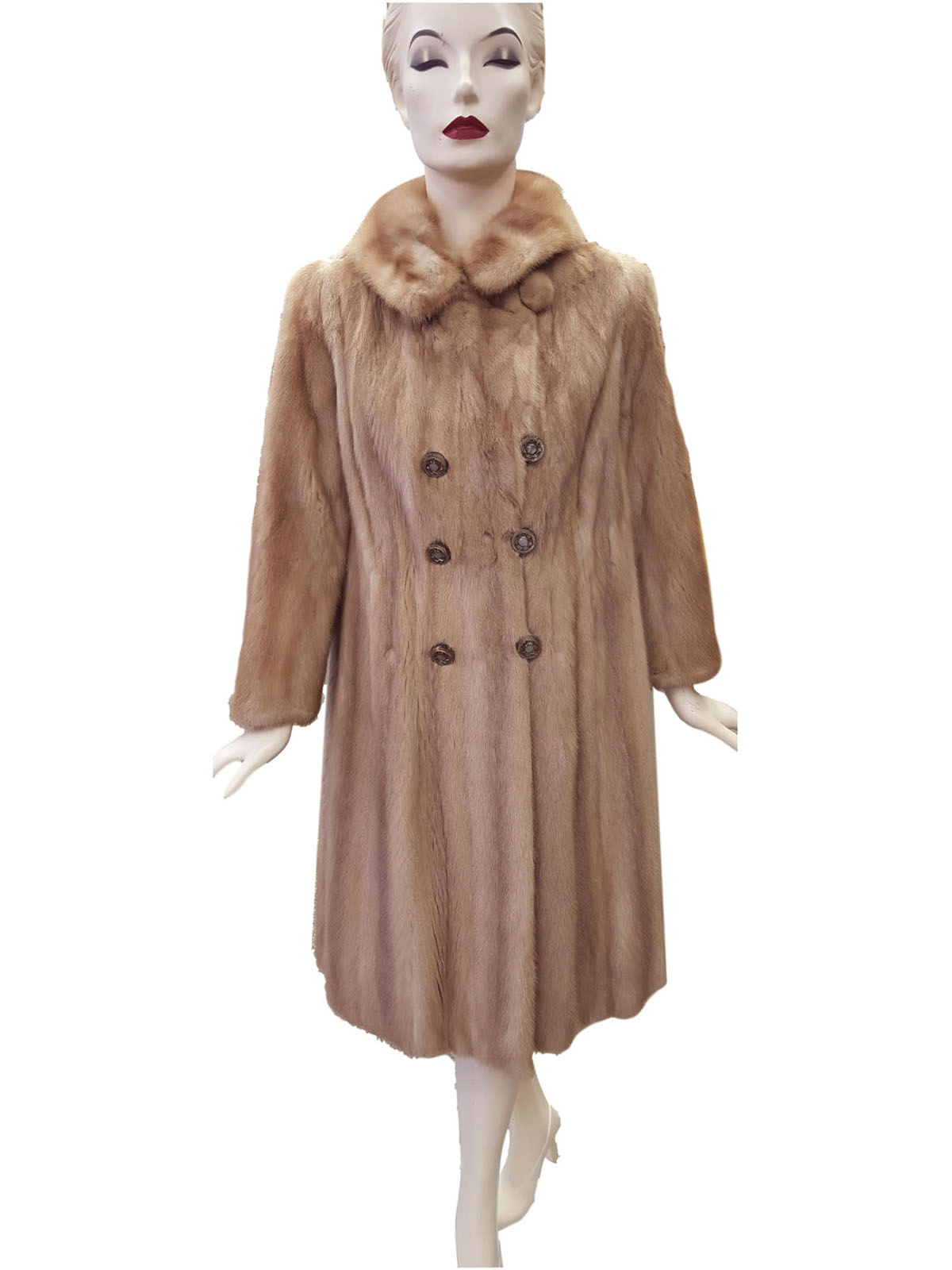 Autumn Haze Mink Shaped Coat