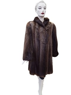 Rust Long Hair Beaver Coat