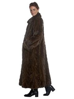 Womens Full Length Sable Fur Coat