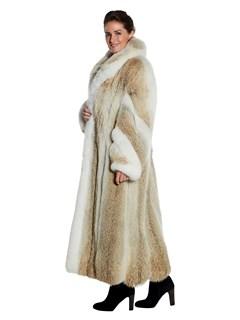 Womens Full Length Coyote Fur Coat