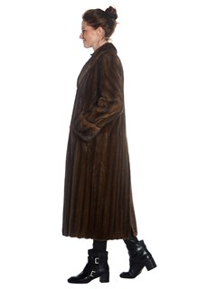 Womens Lunaraine Mink Fur 7/8 Coat