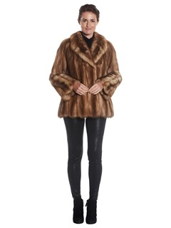 Womens Stone Marten Fur Jacket