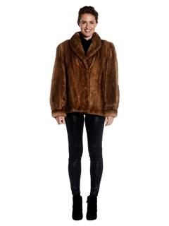 Womens Demi-Buff Mink Fur Jacket