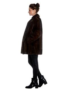 Womens Lunaraine Mink Fur Coat