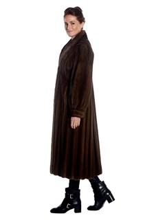 Womens Mink Fur Full Length Coat