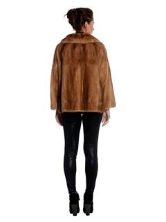 Womens Pastel Mink Fur Jacket