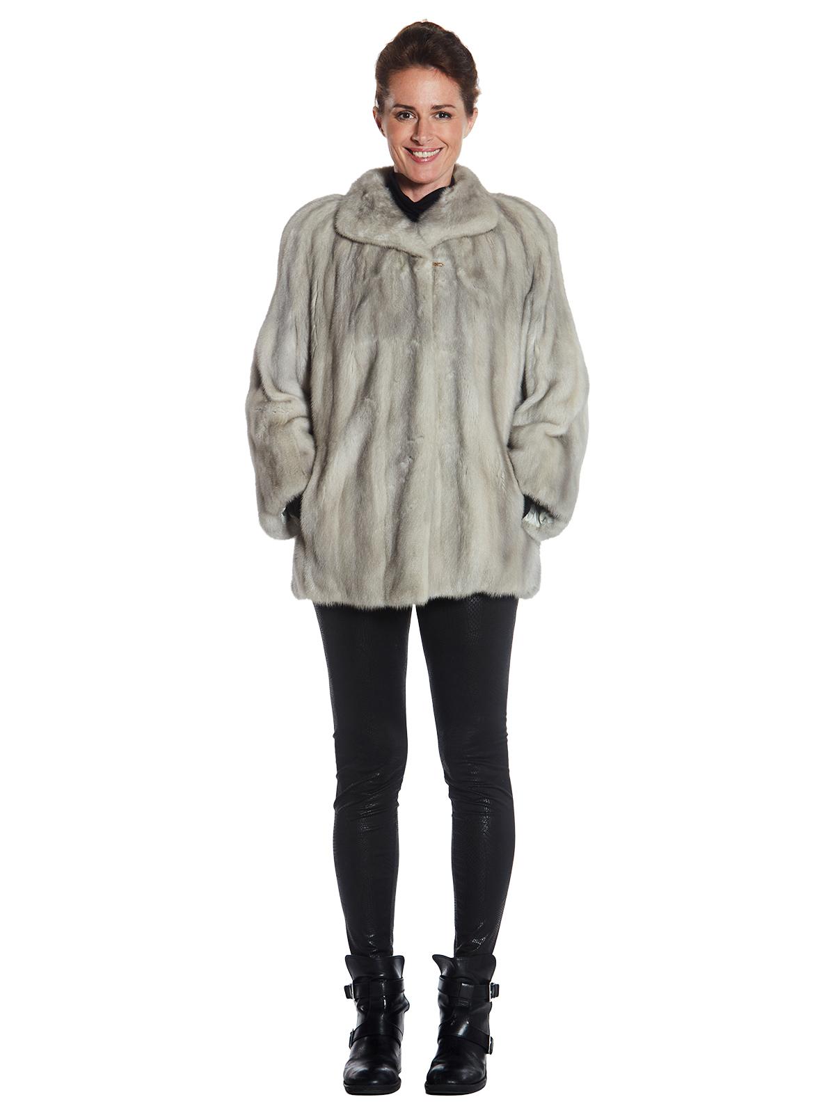 Womens Azurene Mink Fur Jacket
