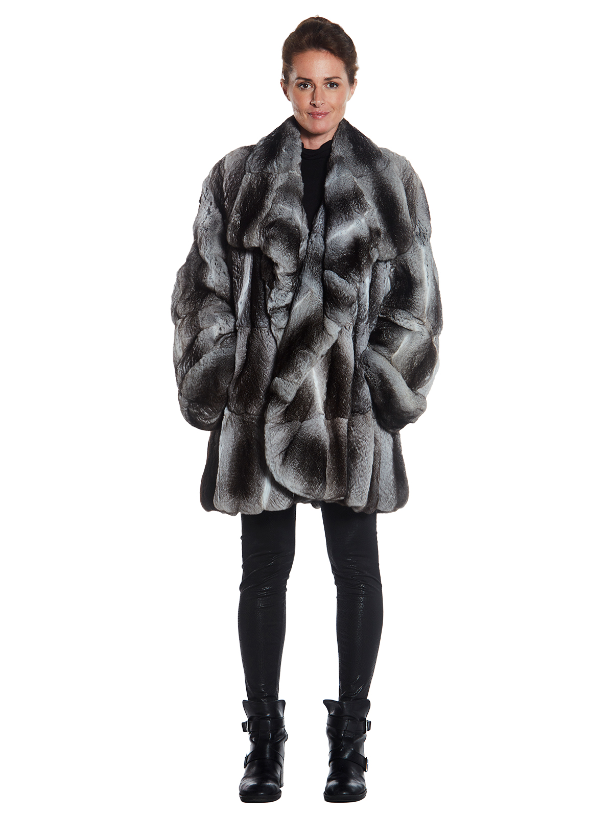 Womens Chinchilla 3/4 Coat