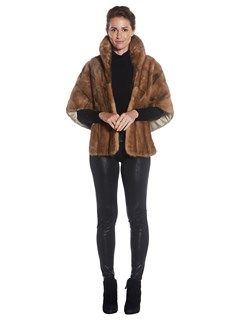 Womens Autumn Haze Mink Fur Stole