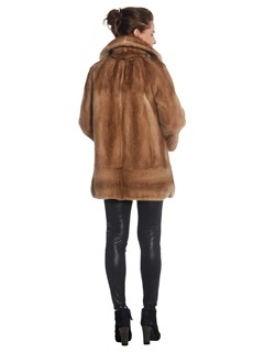 Womens Pastel Mink Fur Jacket