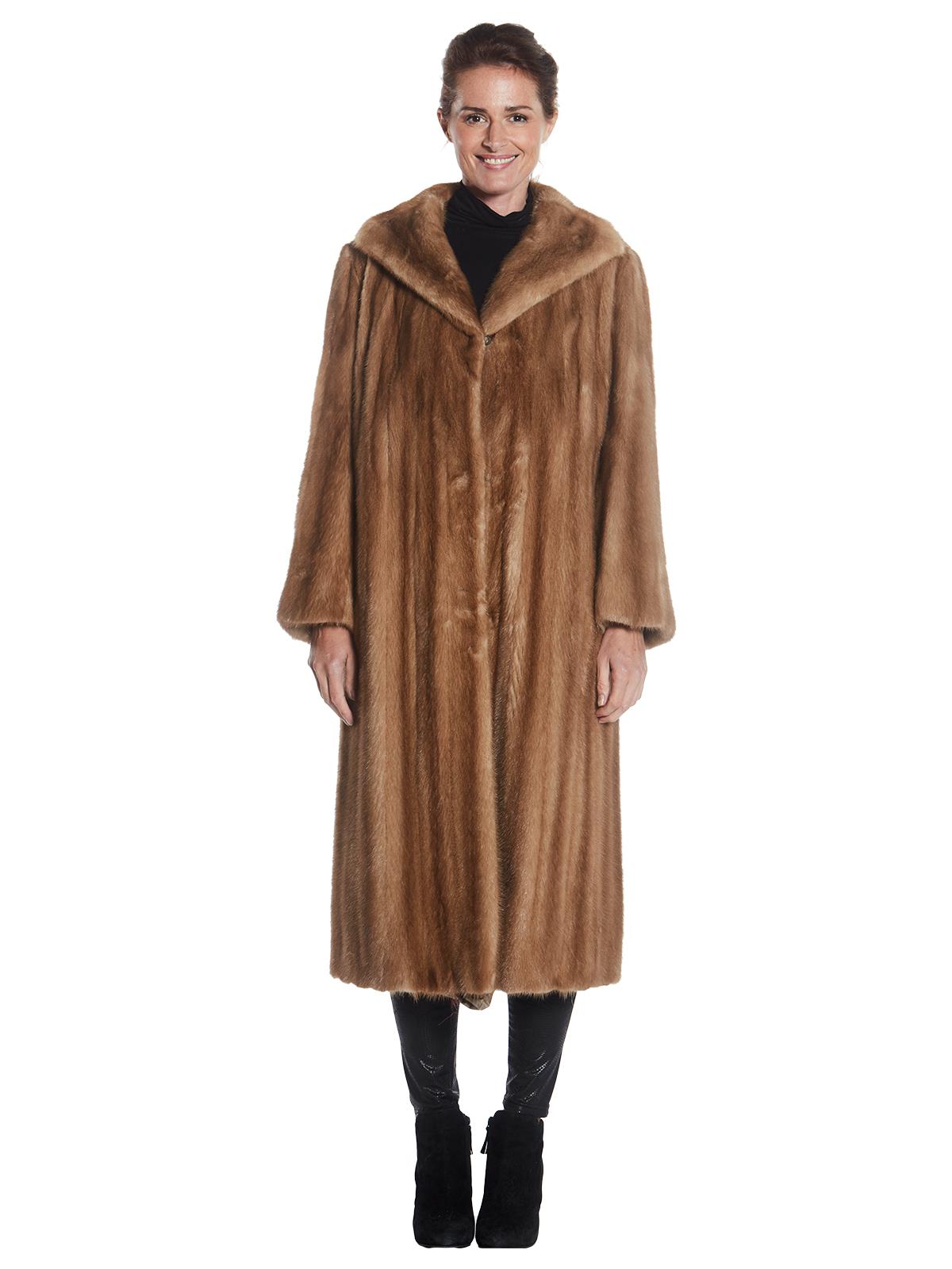 Womens Autumn Haze Mink Fur Coat