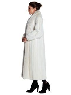 Womens Pink Glo Mink Fur Short Coat With Fox Fur