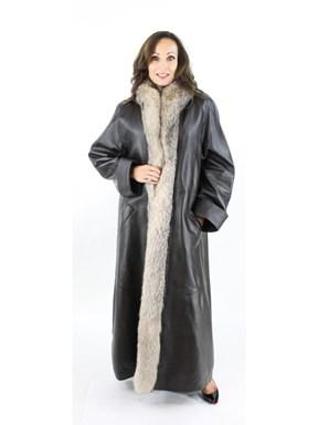 Dark Brown Leather Coat