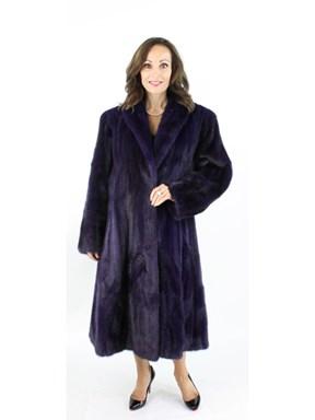 Woman's Deep Purple Mink Fur Coat